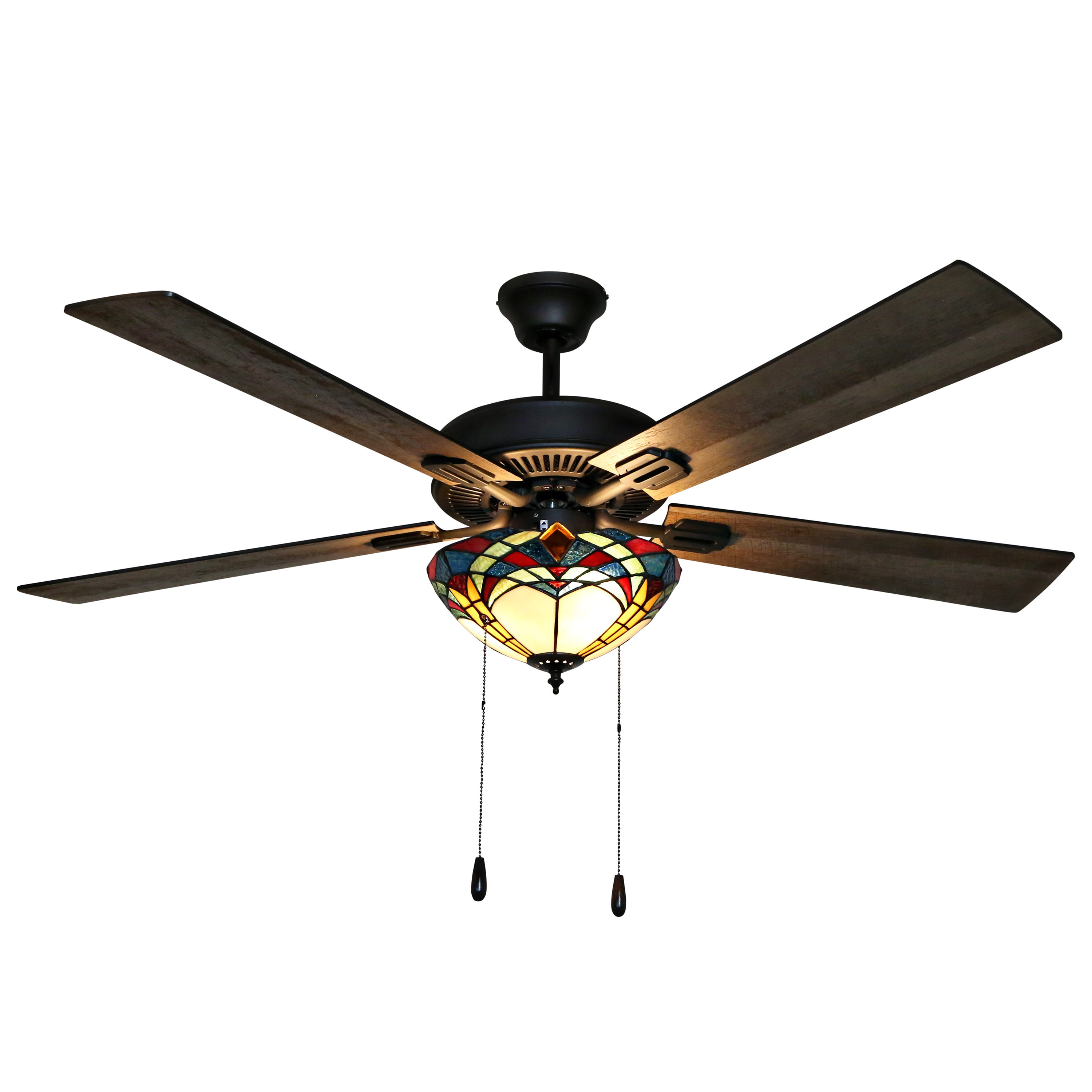 Home Decorators Ceiling Fan 23 in Rustic Bronze Outdoor 3-Blades LED Light Kit