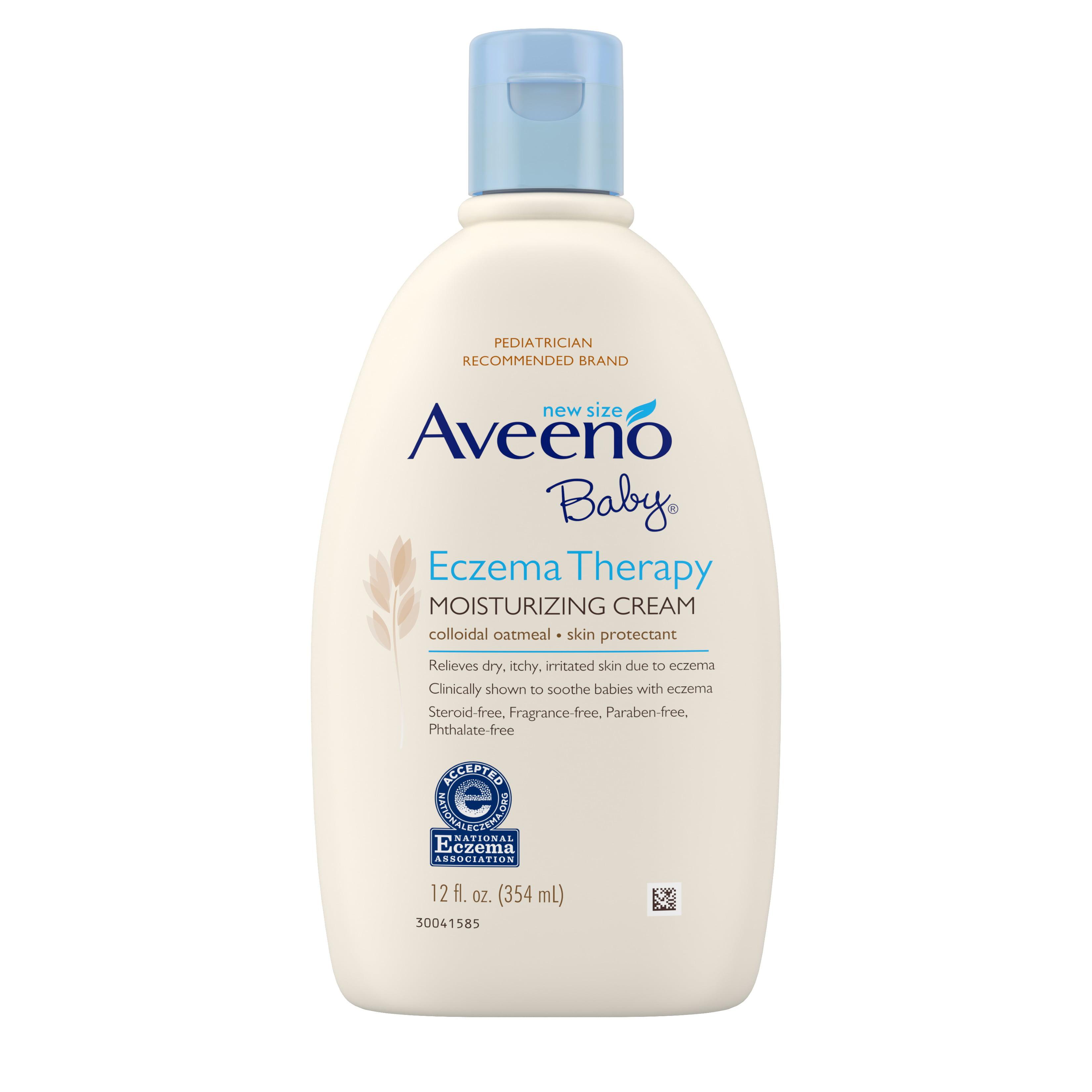 Aveeno Baby Eczema Therapy Moisturizing Cream with Natural Oatmeal, 12 fl. oz