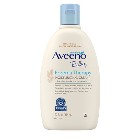 Aveeno Baby Eczema Therapy Moisturizing Cream with Natural Oatmeal, 12 fl.