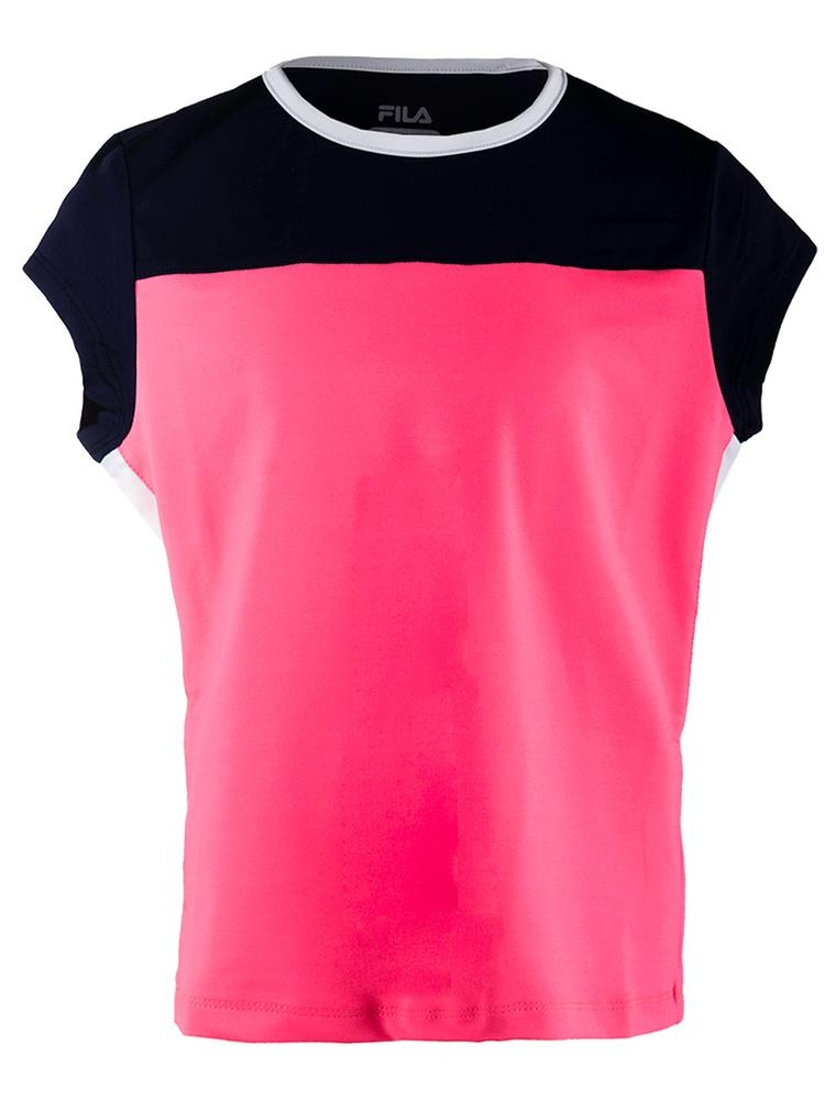 Girls` Down the Line Cap Sleeve Tennis Top
