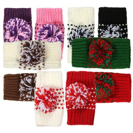 Womens Ladies Button Arm Warmer Fingerless Knit Vintage Mitten Winter Gloves Nichols Arm Warmer