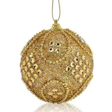 Mallroom Hot Sale Christmas Decoration Rhinestone Glitter Baubles Balls Xmas Tree Hanging Ornament Home Festival Decor ()