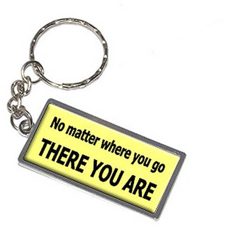 No Matter Where You Go There You Are Keychain Key Chain