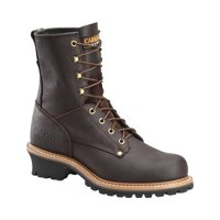 "Men's Carolina 8"" Plain Toe Logger Steel Toe 1821 Boot"