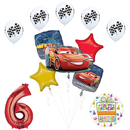 Disney Cars 3 Lighting McQueen 6th Birthday Party - Mcqueen Birthday Supplies