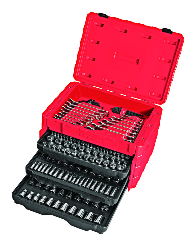 Craftsman 1/4, 3/8 and 1/2 in. drive Metric and SAE 6 and 12 Point Mechanic's Tool Set 224 pc. - Case Of: 1; Each Pack Qty: 224; Total Items Qty: 224