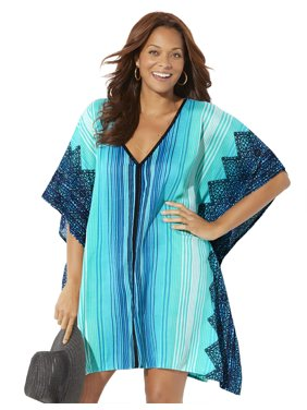 Swimsuits For All Women's Plus Size Beach Cover Up Tunic