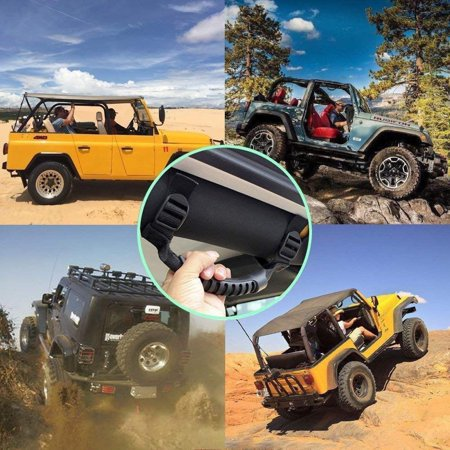 Rolled Grab Strap (Pixnor Heavy Duty Roll Bar Grab Handles Jeep Wrangler for Trail and Bumpy Road - 4PCS)