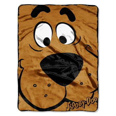 Scooby Doo  Close Canine Micro Raschel Throw  46 By 60 Inch