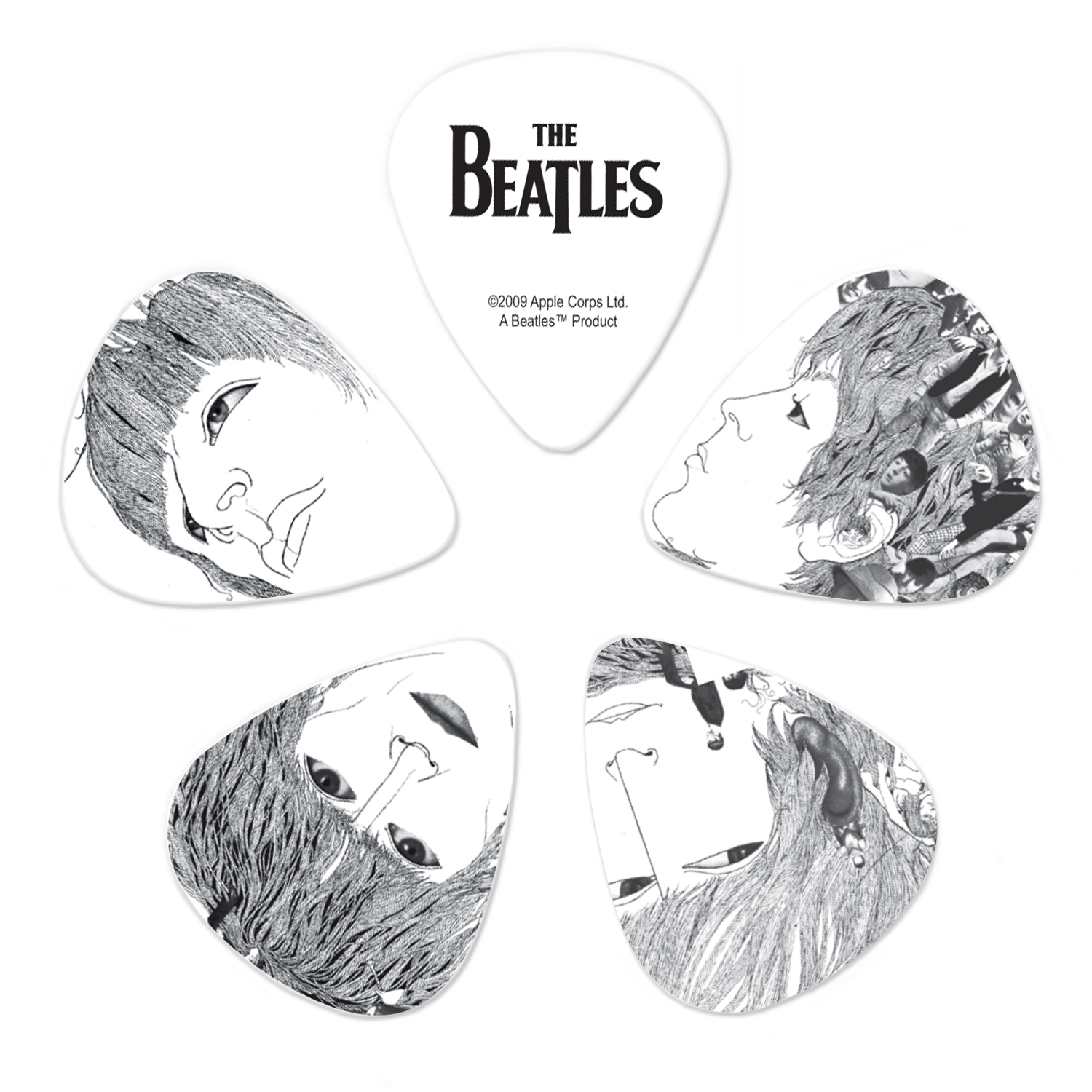Planet Waves Beatles Guitar Picks, Revolver, 10 pack, Thin