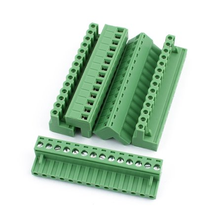 5Pcs 300V 10A KF2EDGK 5 08mm Pitch 14-Pin PCB Screw Terminal Block