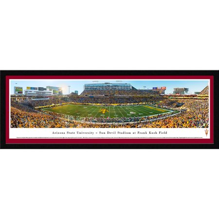Arizona State Football - 50 Yard Line in Sun Devils Stadium - Blakeway Panoramas NCAA College Print with Select Frame and Single Mat
