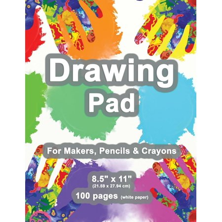 Drawing Pad: 8.5 X 11, Personalized Drawing Sketchbook, 100 Pages, Durable Soft Cover, Fingerpaint Kit-[professional Binding] (Paperback)