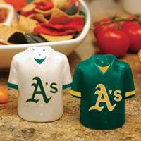 Oakland Athletics Gameday Ceramic Salt & Pepper Shakers - No Size