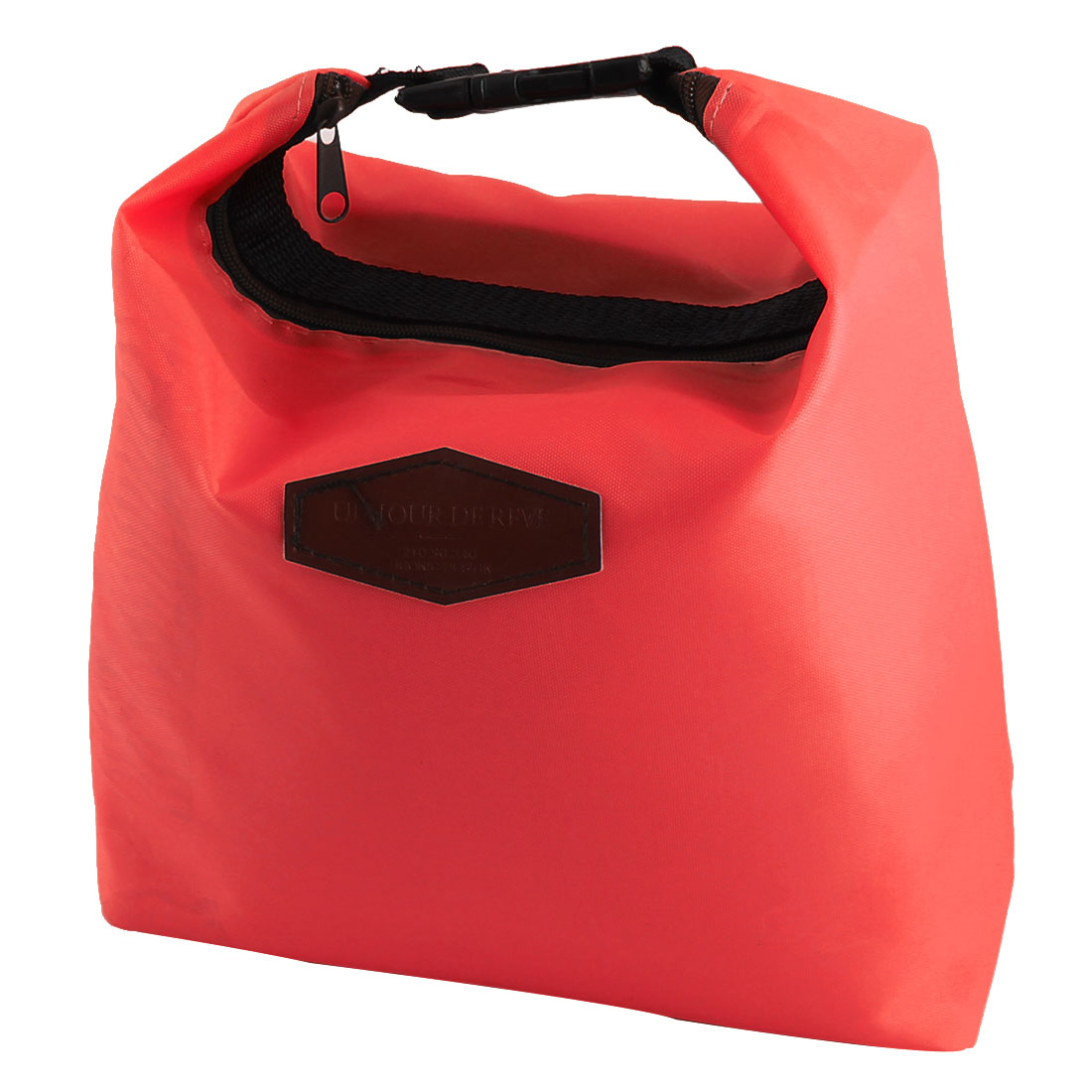 Office Worker Portable Buckle Strap Thermal Cooler Insulated Lunch Bag Pouch Red