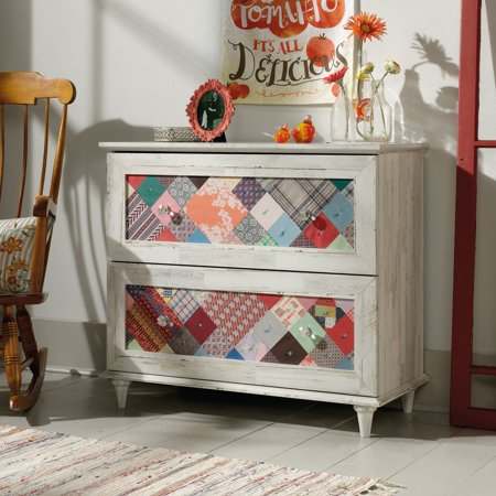 Midnight Accent Chest - Sauder Eden Rue Transitional Accent Chest, White Plank Finish