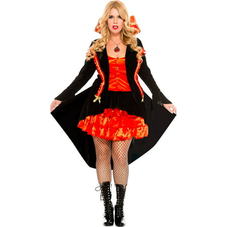 Plus Size Vampire Babe Costume, Sexy Plus Size Vampire Babe Costume for $<!---->