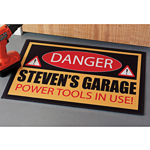"Personalized Danger Doormat, 17"" x 27"""
