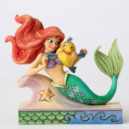 Jim Shore Disney 4054274 Ariel with Flounder New 2016