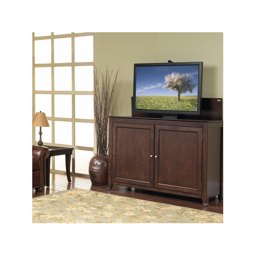 Monterey Full Size Lift Cabinet - Espresso with Solid Wood Door Panels