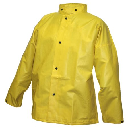 Tingley Rubber J56207 Dura Scrim Jacket with Hood Snaps, Large, Yellow