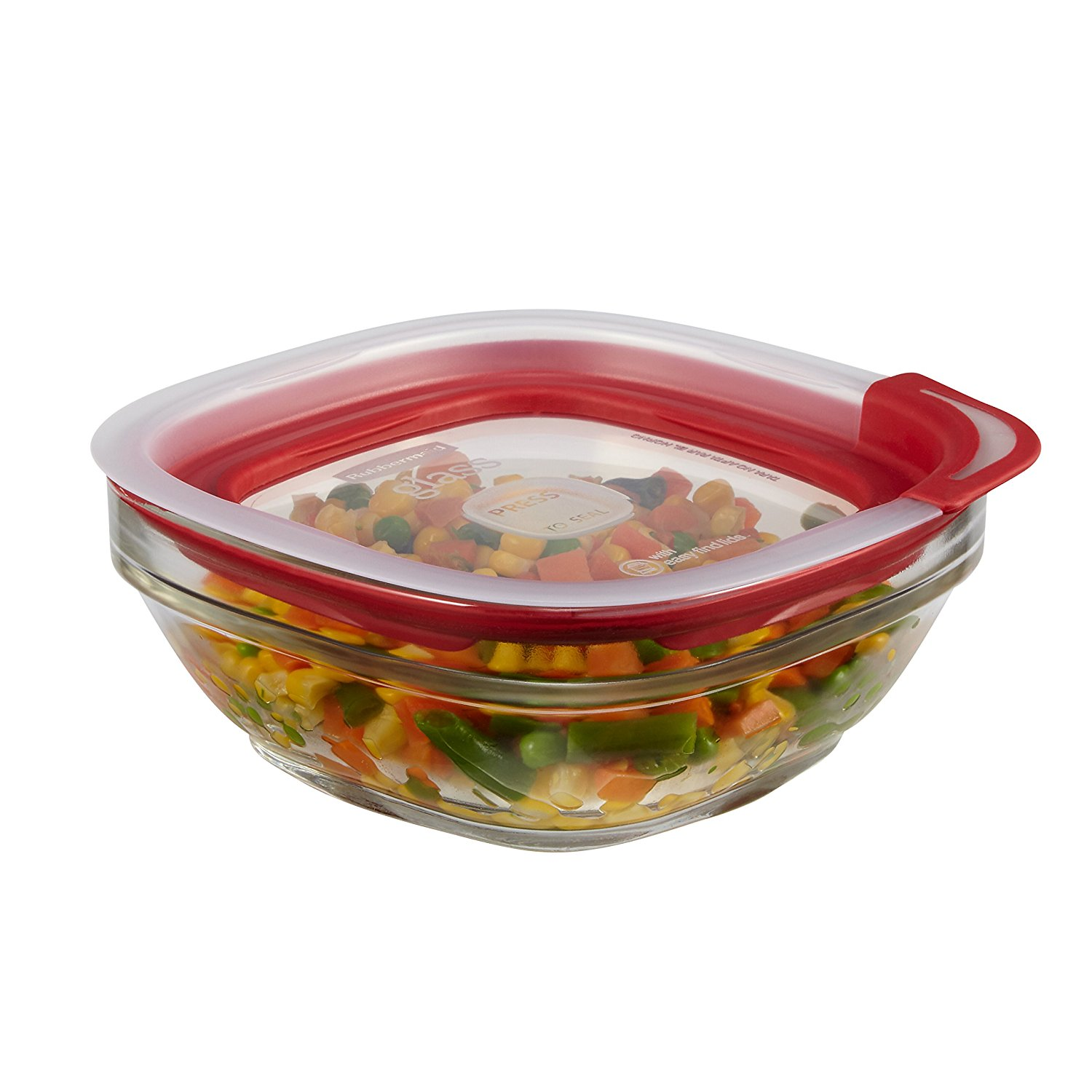 Rubbermaid Easy Find Lid Glass Food Storage Container 2 12 Cup