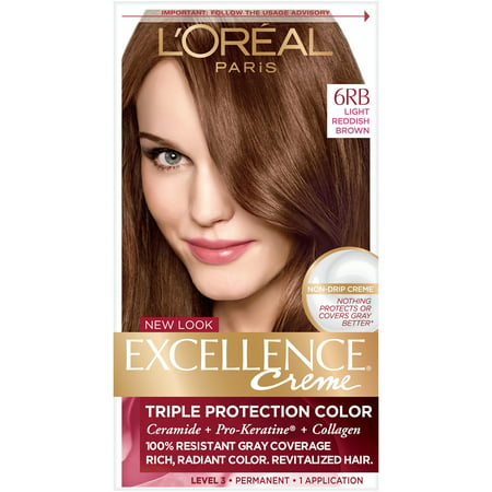 L'Oreal Paris Excellence Creme Permanent Triple Protection Hair Color, 1 kit