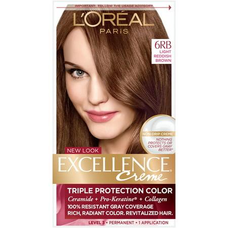 L'Oreal Paris Excellence Creme Permanent Triple Protection Hair Color, 1 kit