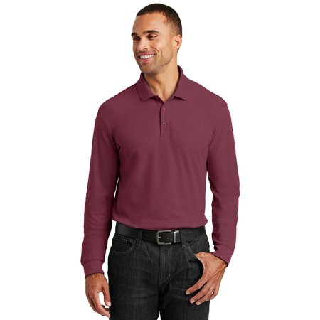 Classic Pique Polo - Port Authority Long Sleeve Core Classic Pique Polo Shirt