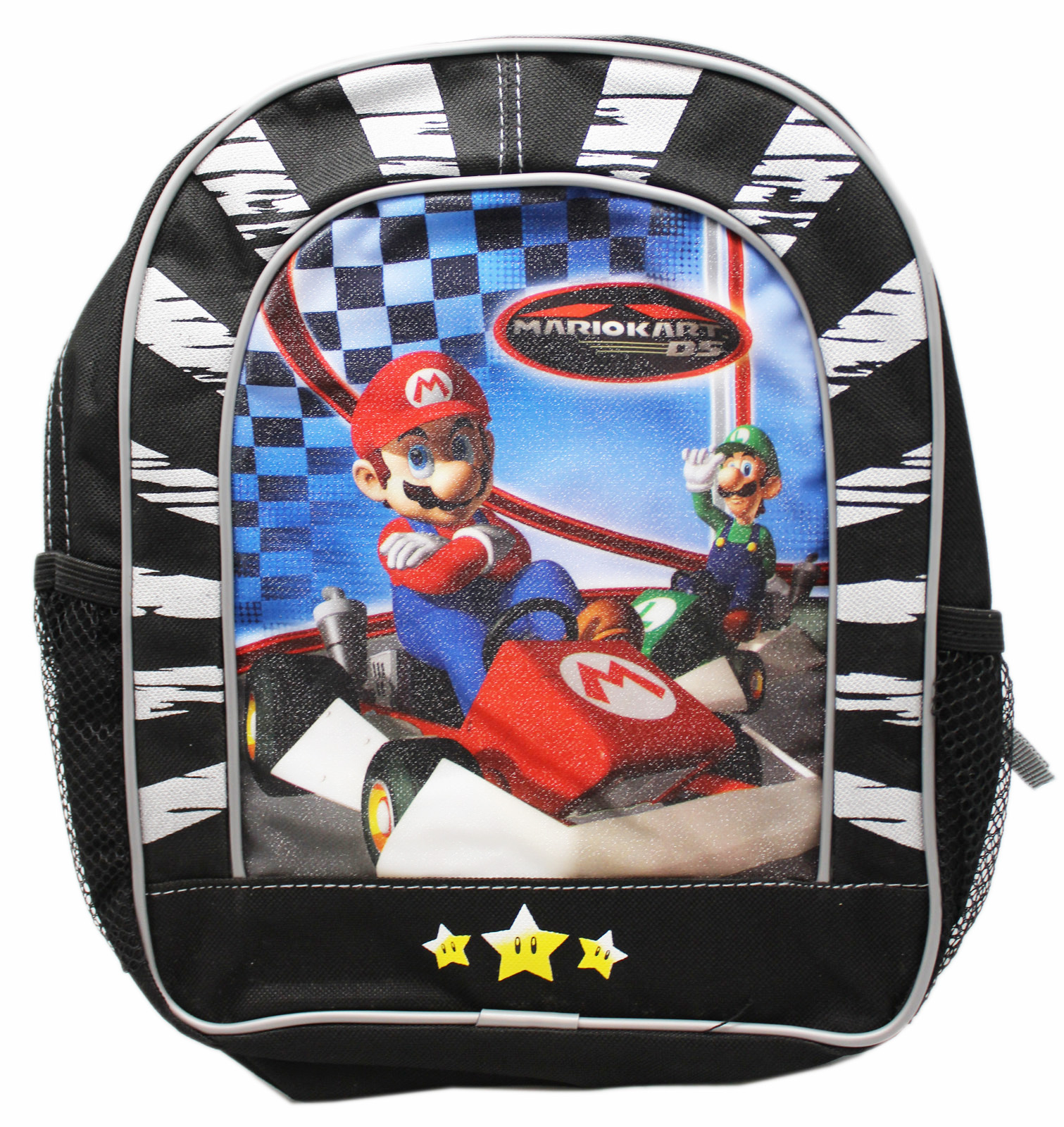 Mario Kart DS Black/Gray Kids Mini Backpack (10in)