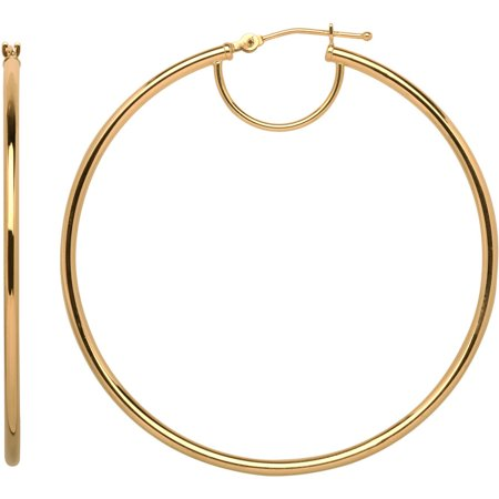 10kt Yellow Gold Hoop Earrings](Gangster Earrings)