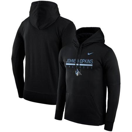 Johns Hopkins Blue Jays Nike Lacrosse Drop Therma Pullover Hoodie -