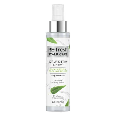 RE-Fresh Scalp Care Scalp Detox Spray Eucalyptus Cooling Relief 4.7 oz