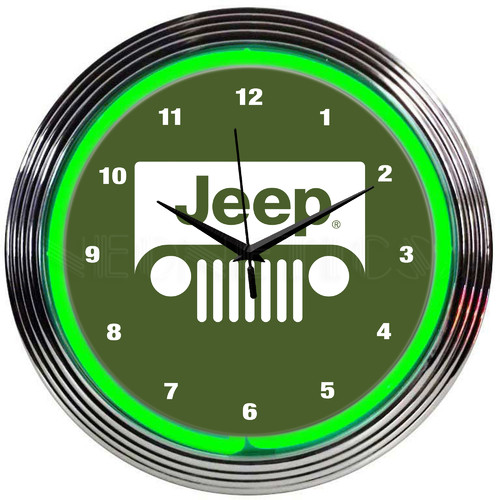 Neonetics 15'' Jeep Neon Clock