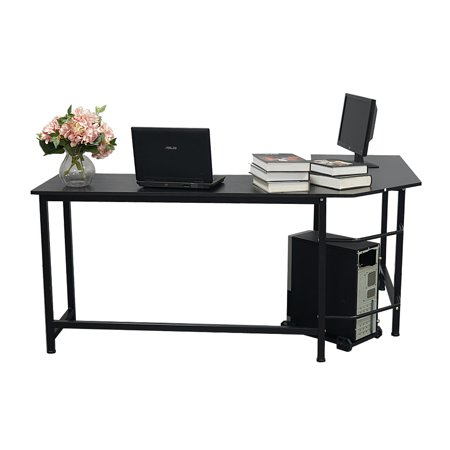 Joyfeel 2019 Hot Sale L Shaped Wood Computer Desk Black Corner Computer Desk For Home Desktop Computer Table Desk