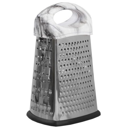 4 Sided Marble (Home Basics 4 Sided Stainless Steel Cheese Grater with Faux Marble)