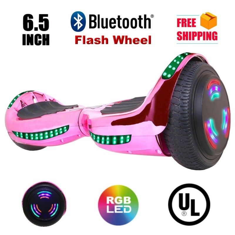 "Click here to buy Flash Wheel UL 2272 Certified Hoverboard 6.5"" Bluetooth Speaker with LED Light Self Balancing Wheel Electric... by V104C."