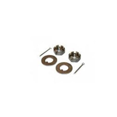 AirBagIt MUS-NUTS Mustang-II Duece SPINDLE NUT Kit washers & nuts & cotter keys Raw