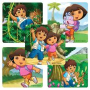 Dora the Explorer & Diego Stickers - 75 Per Pack