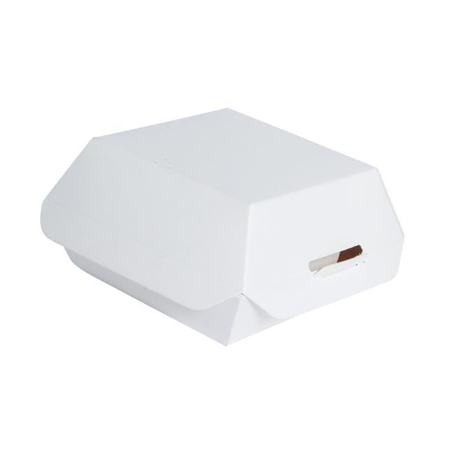 Packnwood 210EATBURG50 2 Oz. White Mini Slider Box, Pack ...