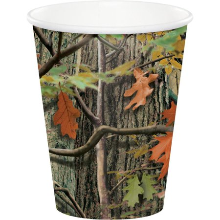 Creative Converting Hunting Camo Hot/Cold Paper Cups 9 Oz., 8 ct