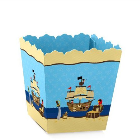 Ahoy Mates! - Pirate - Party Mini Favor Boxes - Baby Shower or Birthday Party Treat Candy Boxes - Set of - Pirate Birthday Party Supplies