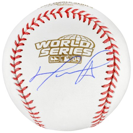Autographed 2004 World Series Baseball - David Ortiz Boston Red Sox Fanatics Authentic Autographed 2004 World Series Baseball - No Size