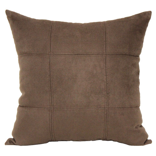 Mainstays Suede Pillow, Costa Brown