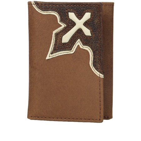 Nocona Men's Trifold Bold Inlay Cross Wallet Cream OS ()