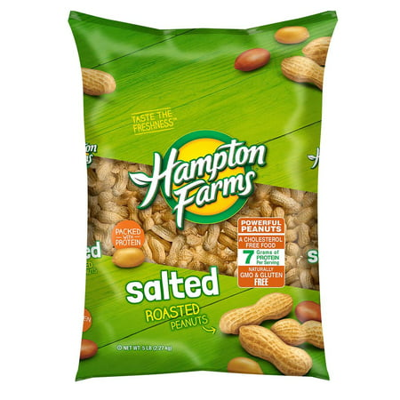 Hampton Farms Salted In-Shell Peanuts (5 lbs.) (Best Peanuts In The Shell)