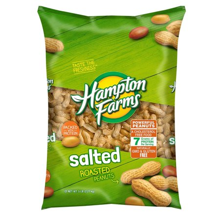 Product Of Hampton Farms Salted In-Shell Peanuts (5 Lbs.) - For Vending Machine, Schools , parties, Retail Stores