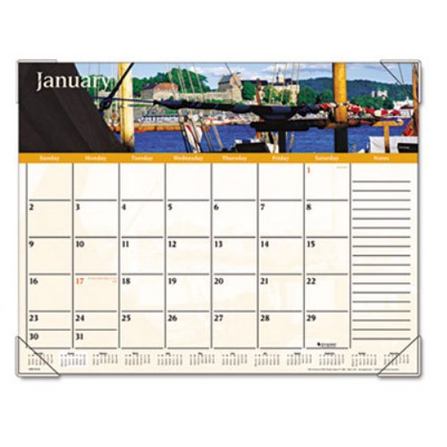 AT-A-GLANCE Visual Organizer Recycled Harbor Views Desk Pad, 22 x 17 Inches, 2012 (DMD145-32)