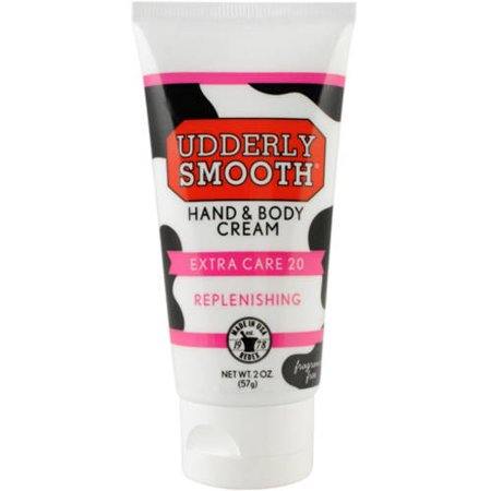 Udderly Smooth Extra Care Cream, Unscented with 20% urea, 2 Oz (Smooth Care)