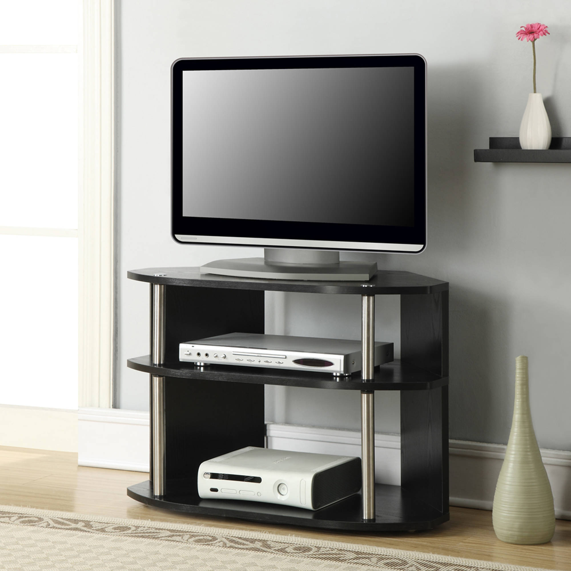 Designs2Go Swivel Black TV Stand for TVs up to 32""